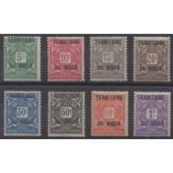 Niger - 1921 - No T1/T8 - Neufs avec charnière