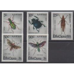 Éthiopie - 1977 - No 859/863 - Insectes