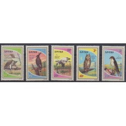 Ethiopia - 1980 - Nb 961/965 - Birds