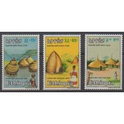 Ethiopia - 1984 - Nb 1098/1100 - Architecture