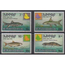 Ethiopia - 1985 - Nb 1123/1126 - Sea animals