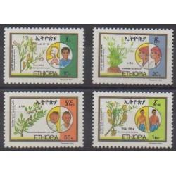 Éthiopie - 1985 - No 1127/1130 - Flore - Santé ou Croix-Rouge