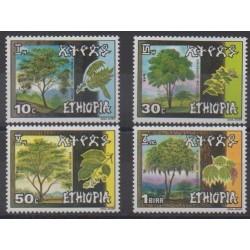 Ethiopia - 1986 - Nb 1145/1148 - Trees