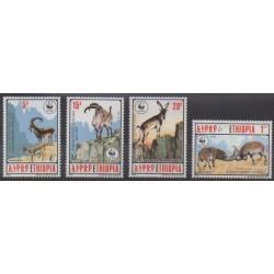 Éthiopie - 1990 - No 1281/1284 - Mammifères