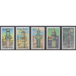 Somalia - 1992 - Nb 373/377 - Monuments