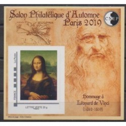 France - CNEP Sheets - 2019 - Nb CNEP 82 - Paintings