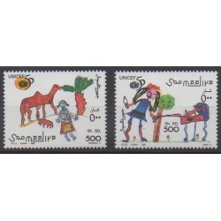 Somalie - 1996 - No 516/517 - Dessins d'enfants
