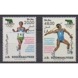 Somalia - 1987 - Nb 348/349 - Philately - Summer Olympics