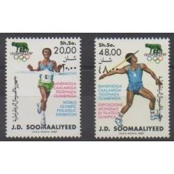 Somalie - 1987 - No 348/349 - Philatélie - Jeux Olympiques d'été