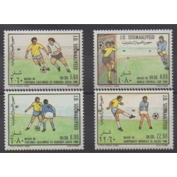 Somalie - 1986 - No 339/342 - Coupe du monde de football