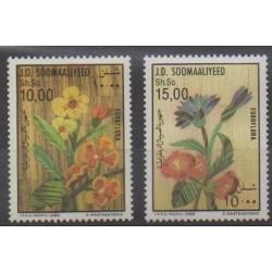 Somalie - 1986 - No 335/336 - Fleurs - Exposition