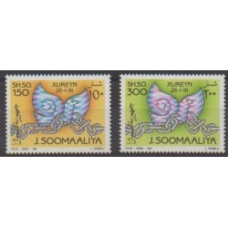 Somalia - 1991 - Nb 366/367