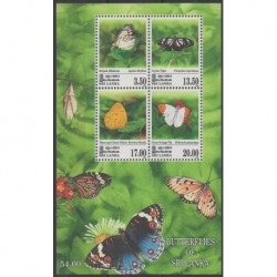 Sri Lanka - 1999 - No BF73 - Insectes