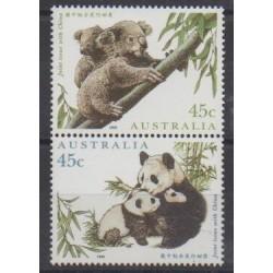 Australia - 1995 - Nb 1453/1454 - Mamals - Endangered species - WWF