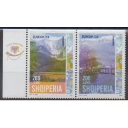 Albanie - 2004 - No 2703a/2704a - Sites - Europa