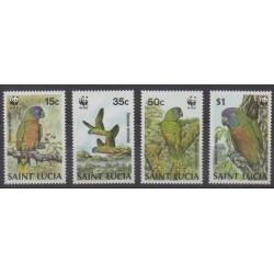St. Lucia - 1987 - Nb 882/885 - Birds