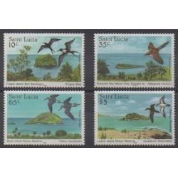 St. Lucia - 1985 - Nb 759/762 - Birds