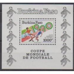 Burkina Faso - 1990 - Nb BF38 - Soccer World Cup
