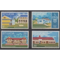 St. Lucia - 1972 - Nb 314/317 - Architecture