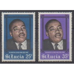 St. Lucia - 1968 - Nb 233/234 - Celebrities