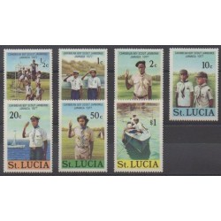 St. Lucia - 1977 - Nb 418/424 - Scouts