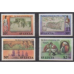St. Lucia - 1978 - Nb 444/447 - Military history