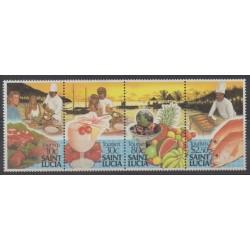Sainte-Lucie - 1988 - No 901/904 - Gastronomie