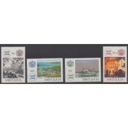 Sainte-Lucie - 1988 - No 905/908 - Histoire
