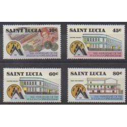 Sainte-Lucie - 1988 - No 890/893 - Monnaies, billets ou médailles