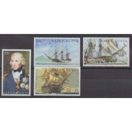 Sainte-Lucie - 2005 - No 1215/1218 - Histoire militaire - Navigation