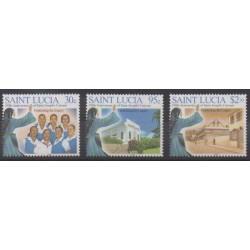 Sainte-Lucie - 2005 - No 1212/1214 - Religion