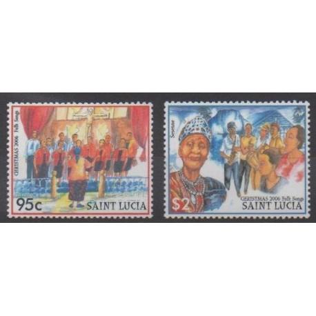 St. Lucia - 2006 - Nb 1244/1245 - Christmas