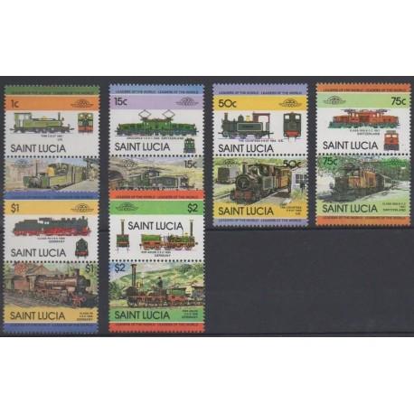 St. Lucia - 1984 - Nb 656/667 - Trains
