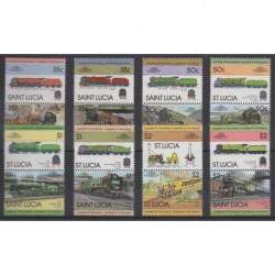 St. Lucia - 1983 - Nb 598/613 - Trains