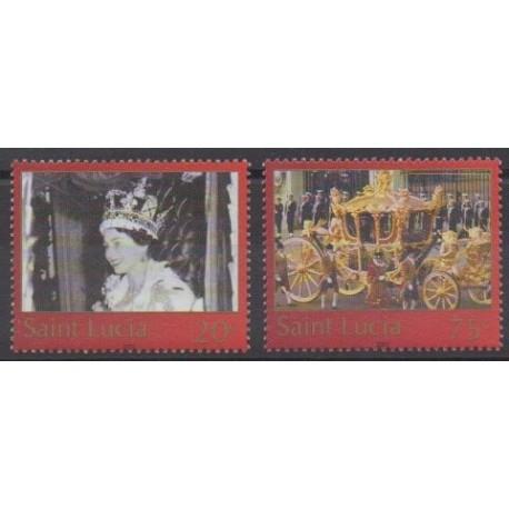 Sainte-Lucie - 2003 - No 1175/1176 - Royauté - Principauté