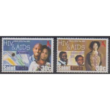 Sainte-Lucie - 2004 - No 1206/1207 - Santé ou Croix-Rouge