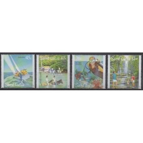 Sainte-Lucie - 2004 - No 1202/1205 - Tourisme