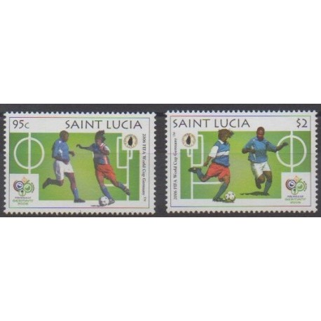 Sainte-Lucie - 2006 - No 1240/1241 - Coupe du monde de football