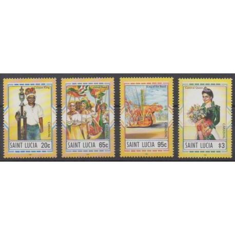 Sainte-Lucie - 1996 - No 1027/1030 - Masques ou carnaval