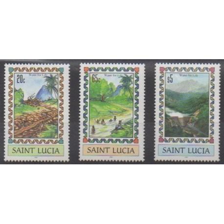 Sainte-Lucie - 1996 - No 1031/1033 - Environnement