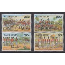 Sainte-Lucie - 1997 - No 1061/1064 - Histoire militaire