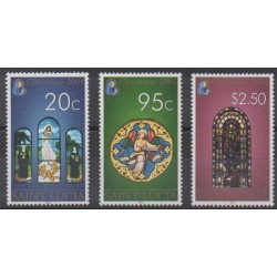 Sainte-Lucie - 2001 - No 1145/1147 - Noël