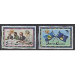 Sainte-Lucie - 1998 - No 1080/1081 - Histoire