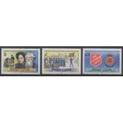 Sainte-Lucie - 2002 - No 1166/1168 - Histoire militaire