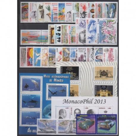 Monaco - Année complète - 2013 - No 2858/2906