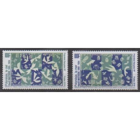Polynésie - 2019 - No 1231/1232 - Peinture