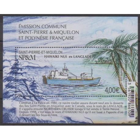Saint-Pierre et Miquelon - Blocs et feuillets - 2019 - F1230 - Navigation