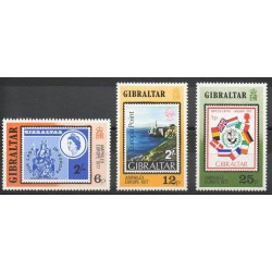 Gibraltar - 1977- Nb 364/366 - Stamps on stamps