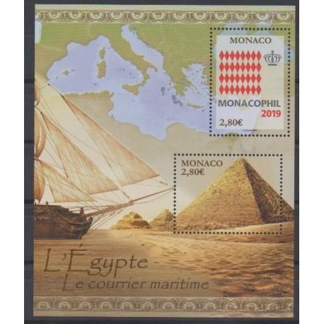 Monaco - Blocs et feuillets - 2020 - BF Monacophil 2019 - Philatélie - Service postal