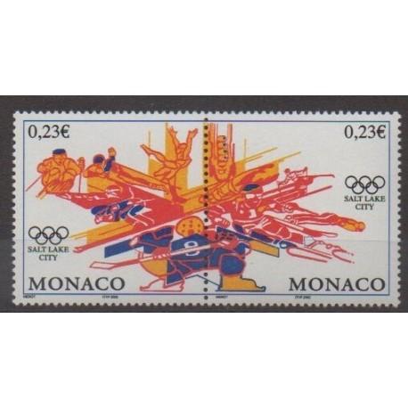 Monaco - 2002 - No 2336/2337 - Jeux olympiques d'hiver